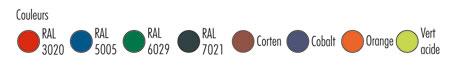 coloris de la corbeille polypro Ibiza
